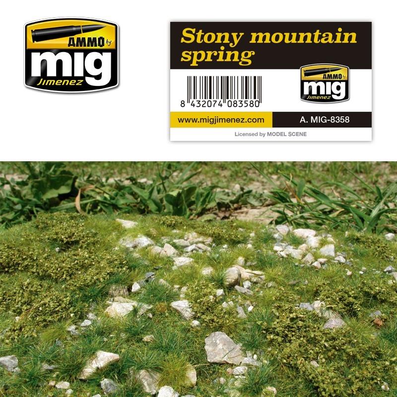Ammo by Mig Jimenez Diorama Series - Stony Mountain - Spring - A.MIG-8358