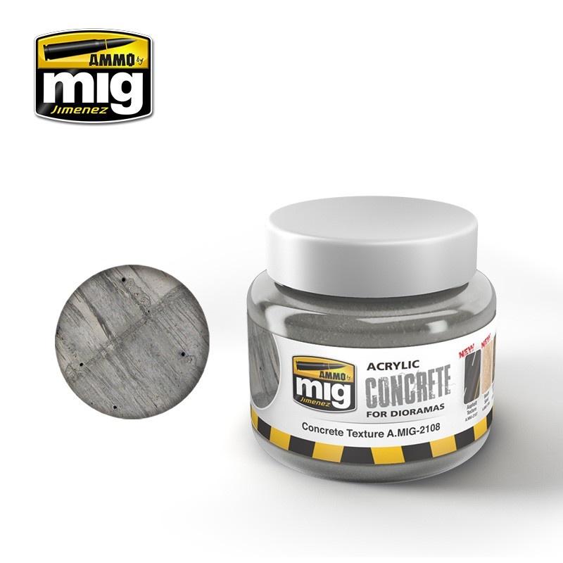 Ammo by Mig Jimenez Diorama Series - Concrete Texture - 250ml - A.MIG-2108