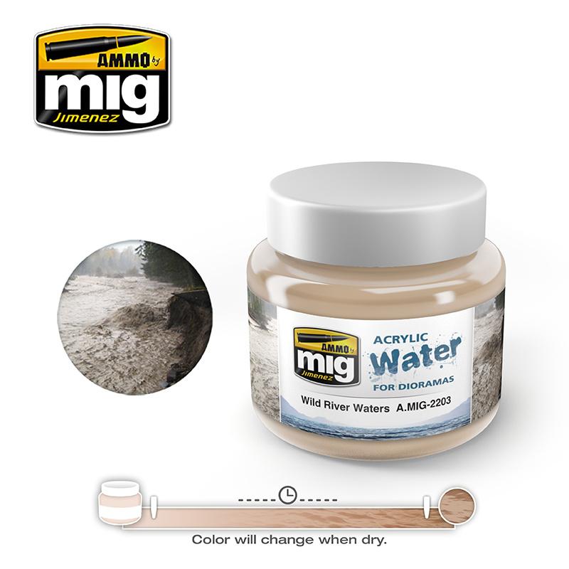 Ammo by Mig Jimenez Diorama Series - Wild River Waters - 250ml - A.MIG-2203