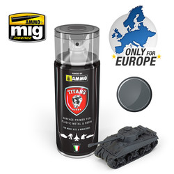 Titans Hobby - Panzergrau Matt Primer (German Dark Grey) - 400ml - TTH112