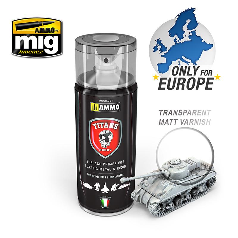 Ammo by Mig Jimenez Titans Hobby - Transparent Matt Varnish / Base - 400ml - TTH110