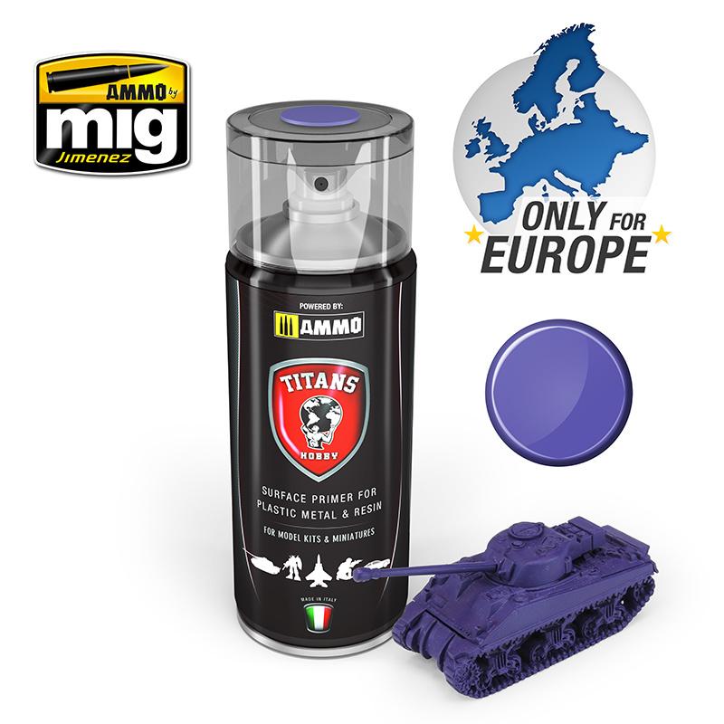 Ammo by Mig Jimenez Titans Hobby - Magic Purple Matt Primer - 400ml - TTH107