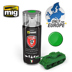 Titans Hobby - Emerald Green Matt Primer  - 400ml - TTH106