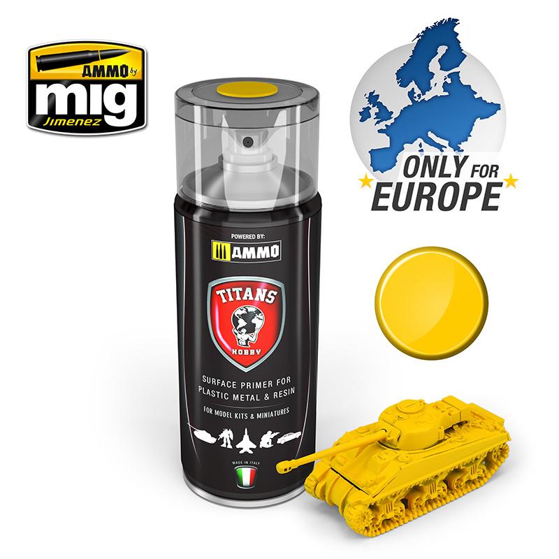 Ammo by Mig Jimenez Titans Hobby - Imperial Yellow Matt Primer - 400ml - TTH104