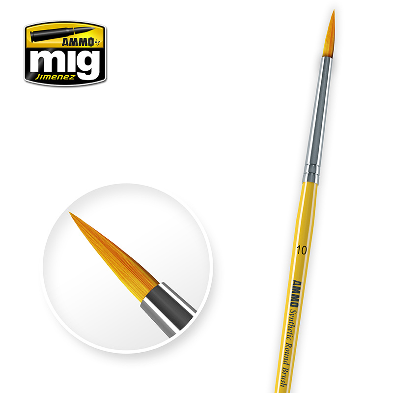 Ammo by Mig Jimenez Brushes - 10 Syntetic Round Brush - A.MIG-8617