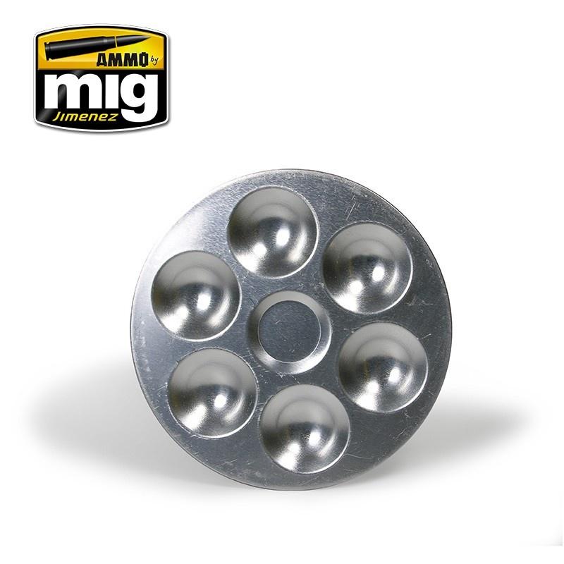 Ammo by Mig Jimenez Aluminium Pallet (6 Wells) - A.MIG-8008