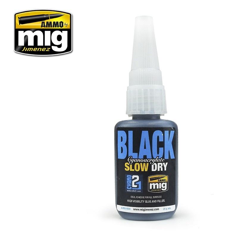 Ammo by Mig Jimenez Black Slow Dry Cyanoacrylate - A.MIG-8034