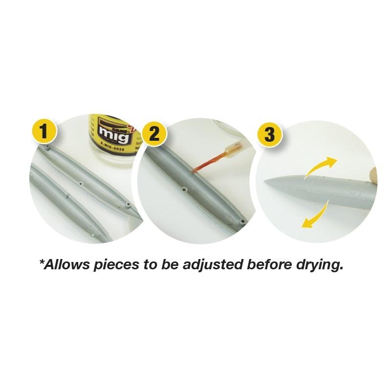 Ammo by Mig Jimenez Medium Dense Cement - Slow Dry (Polyester Plastic Glue) - A.MIG-2038