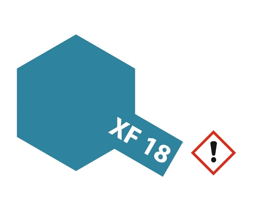 Tamiya Xf-18MediumBlue - 23ml - Tamiya - TAM81318