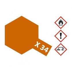 X-34 Metallic Brown - 23ml - Tamiya - TAM81034