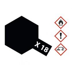 X-18SemiGlossBlack - 23ml - Tamiya - TAM81018