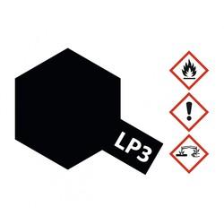 Lacquer Paint LP-3 Flat Black - 10ml - Tamiya - TAM82103