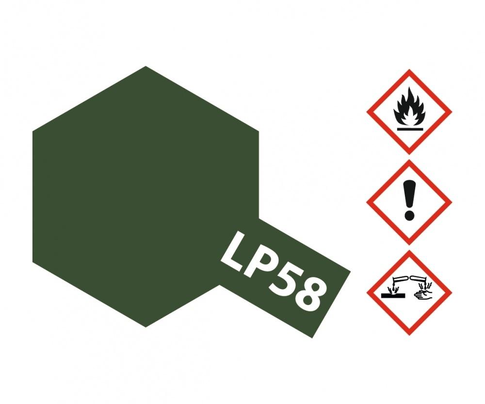 Tamiya Lacquer Paint LP-58 Nato Green - 10ml - Tamiya - TAM82158