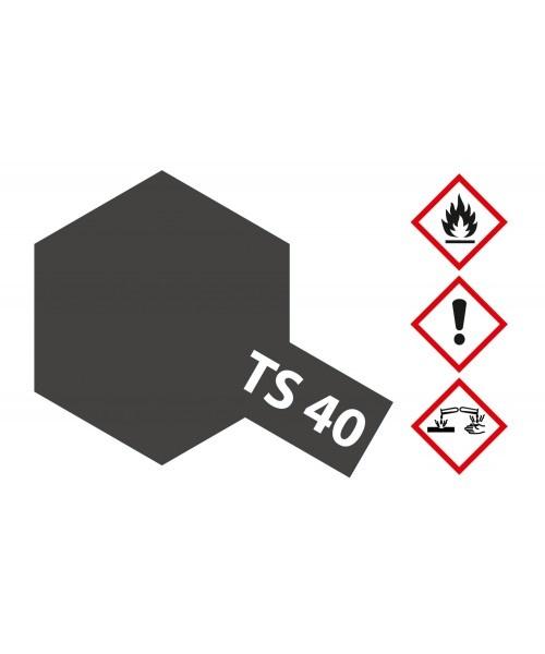 Tamiya Ts-40 Metallic Black - 100ml - Tamiya - TAM85040
