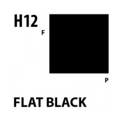 Aqueous Hobby Color Flat Black - 10ml - Mr Hobby / Gunze - MRH-H-012