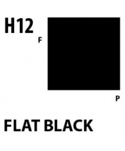 Mr Hobby / Gunze Aqueous Hobby Color Flat Black - 10ml - Mr Hobby / Gunze - MRH-H-012