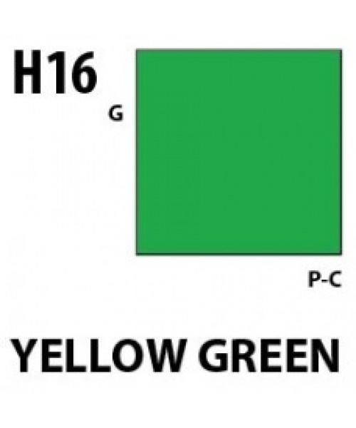Mr Hobby / Gunze Aqueous Hobby Color Yellow Green - 10ml - Mr Hobby / Gunze - MRH-H-016