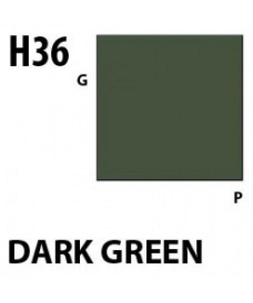 Mr Hobby / Gunze Aqueous Hobby Color Dark Green - 10ml - Mr Hobby / Gunze - MRH-H-036