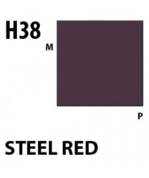 Mr Hobby / Gunze Aqueous Hobby Color Steel Red - 10ml - Mr Hobby / Gunze - MRH-H-038
