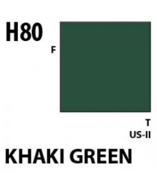 Mr Hobby / Gunze Aqueous Hobby Color Khaki Green - 10ml - Mr Hobby / Gunze - MRH-H-080