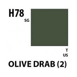 Aqueous Hobby Color Olive Drab 2 - 10ml - Mr Hobby / Gunze - MRH-H-078