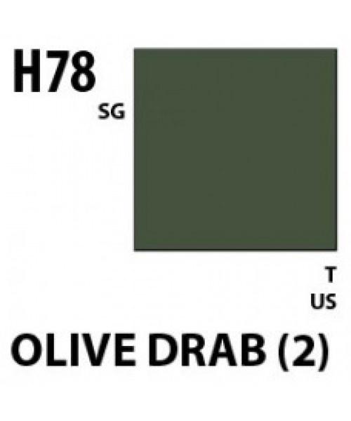 Mr Hobby / Gunze Aqueous Hobby Color Olive Drab 2 - 10ml - Mr Hobby / Gunze - MRH-H-078