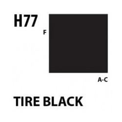 Aqueous Hobby Color Tire Black - 10ml - Mr Hobby / Gunze - MRH-H-077