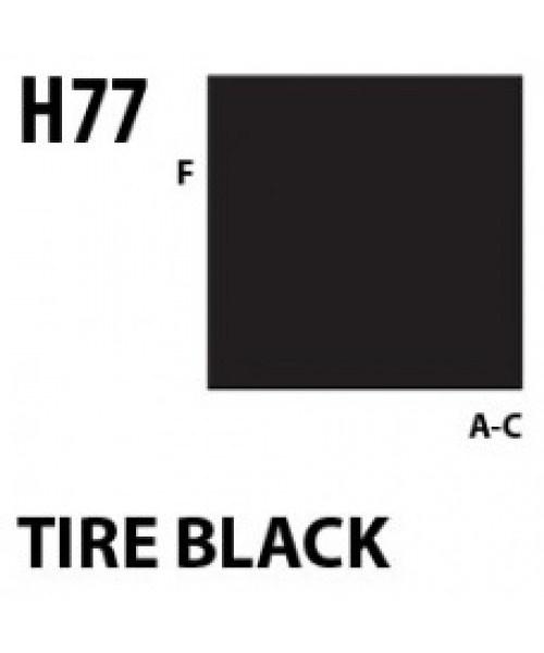 Mr Hobby / Gunze Aqueous Hobby Color Tire Black - 10ml - Mr Hobby / Gunze - MRH-H-077