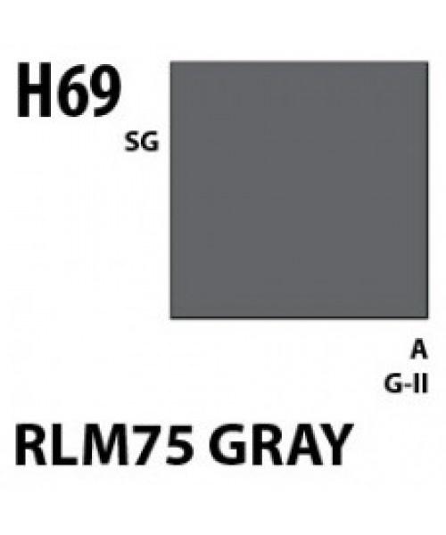 Mr Hobby / Gunze Aqueous Hobby Color Rlm75 Gray - 10ml - Mr Hobby / Gunze - MRH-H-069