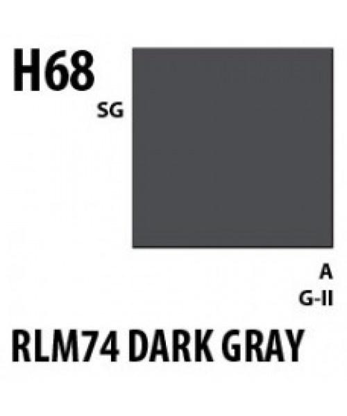 Mr Hobby / Gunze Aqueous Hobby Color Rlm74 Dark Gray - 10ml - Mr Hobby / Gunze - MRH-H-068
