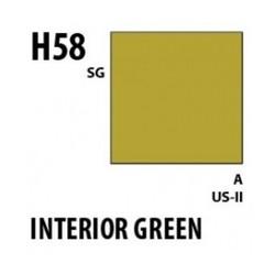 Aqueous Hobby Color Interior Green - 10ml - Mr Hobby / Gunze - MRH-H-058