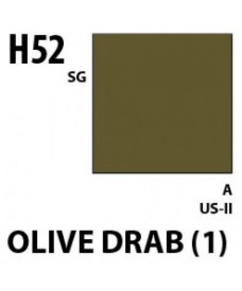 Mr Hobby / Gunze Aqueous Hobby Color Olive Drab 1 - 10ml - Mr Hobby / Gunze - MRH-H-052