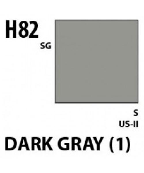 Mr Hobby / Gunze Aqueous Hobby Color Dark Gray 1 - 10ml - Mr Hobby / Gunze - MRH-H-082