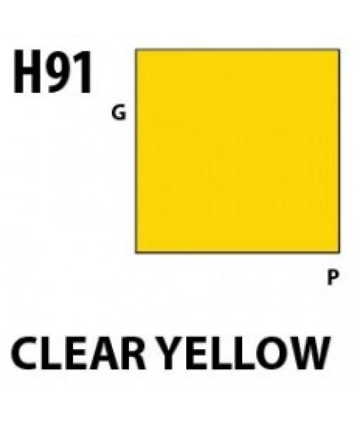 Mr Hobby / Gunze Aqueous Hobby Color Clear Yellow - 10ml - Mr Hobby / Gunze - MRH-H-091