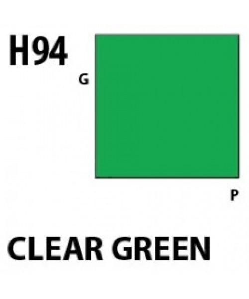 Mr Hobby / Gunze Aqueous Hobby Color Clear Green - 10ml - Mr Hobby / Gunze - MRH-H-094