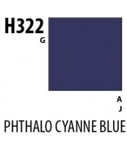 Mr Hobby / Gunze Aqueous Hobby Color Phthalo Cyanine Blue - 10ml - Mr Hobby / Gunze - MRH-H-322