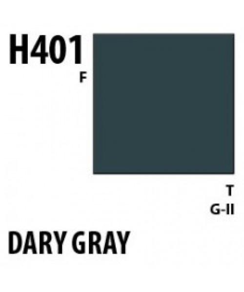 Mr Hobby / Gunze Aqueous Hobby Color Dark Gray - 10ml - Mr Hobby / Gunze - MRH-H-401