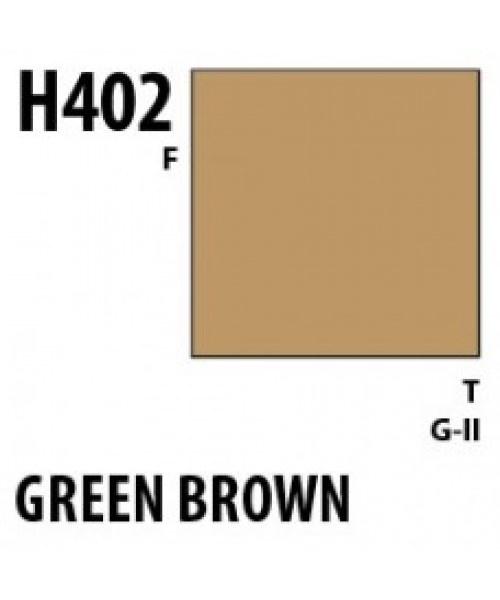 Mr Hobby / Gunze Aqueous Hobby Color Green Brown - 10ml - Mr Hobby / Gunze - MRH-H-402