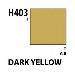 Aqueous Hobby Color Dark Yellow - 10ml - Mr Hobby / Gunze - MRH-H-403