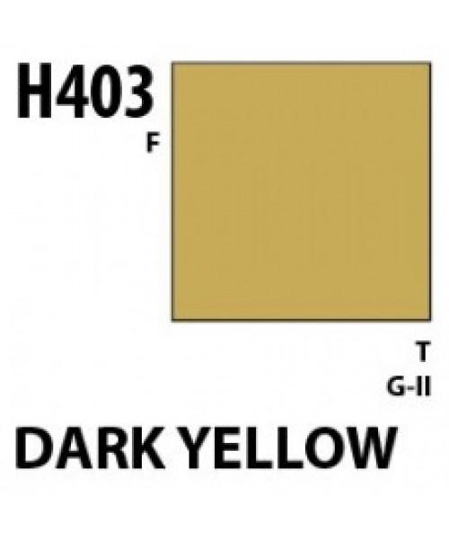 Mr Hobby / Gunze Aqueous Hobby Color Dark Yellow - 10ml - Mr Hobby / Gunze - MRH-H-403