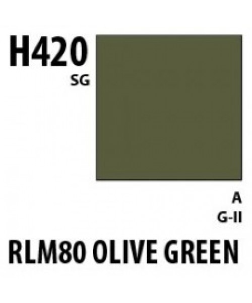Mr Hobby / Gunze Aqueous Hobby Color Rlm80 Olive Gr. - 10ml - Mr Hobby / Gunze - MRH-H-420