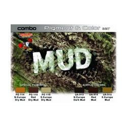 "Pigment & Color Set ""Mud"" - 6 x 22ml - Lifecolor - LIC-SPG05"
