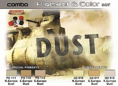"""Life Color Pigment & Color Set """"Dust"""" - 6 x 22ml - Lifecolor - LIC-SPG04"""