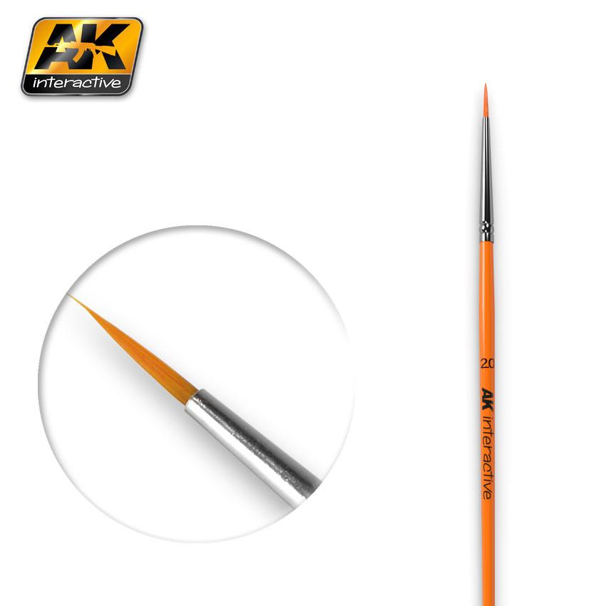 AK-Interactive Round Brush 2/0 Synthetic - AK-602