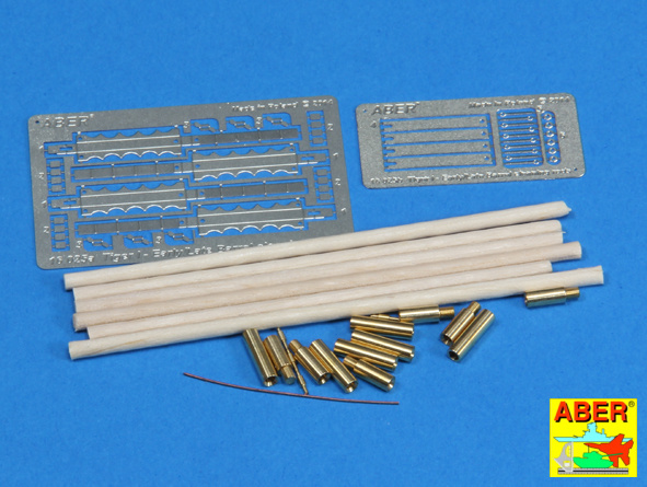 Aber Barrel Cleaning Rods With Brackets For Tiger I -Early-Late - Aber - Scale 1-16 - ABR 16025
