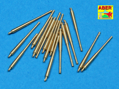 Aber Set Of 16 Pcs 105 Mm Sflak Barrels Used In C-33 Mount For German Ships - Aber - Scale 1-350 - ABR 1:350 L-13