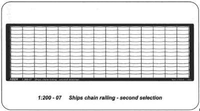 Aber Ships Chain Railing - Two Horizontal Bars - Aber - Scale 1-200 - ABR 1200 - 07