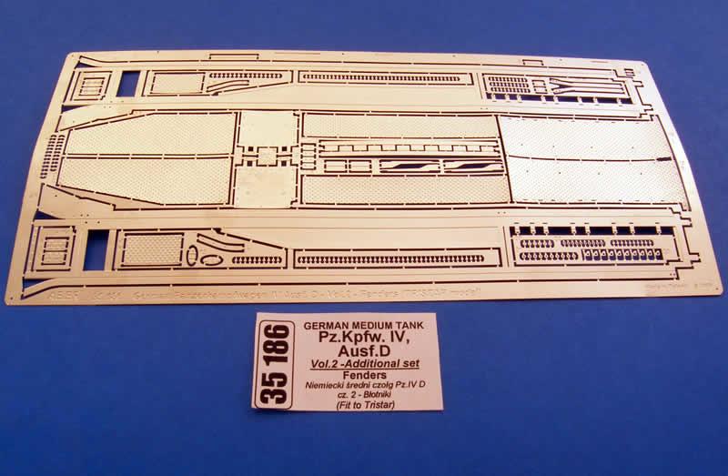 Aber German Medium Tank Pz.Kpfw.Iv, Ausf.D-Vol.2-Add. Set- Fenders - Aber - Scale 1-35 - ABR 35186