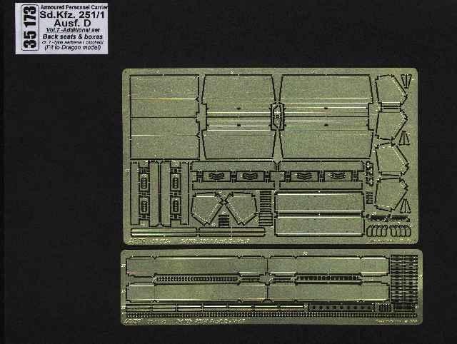 Aber Sd.Kfz.251-1 Ausf.D-Vol.7-Add.Set-Back Seats&Boxes - Aber - Scale 1-35 - ABR 35173