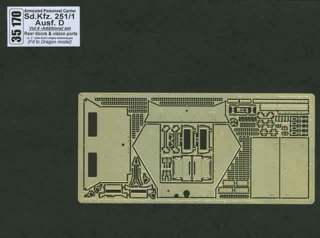 Aber Sd.Kfz.251-1Ausf. D-Vol.4-Add.Set-Rear Doors & Vision Ports - Aber - Scale 1-35 - ABR 35170